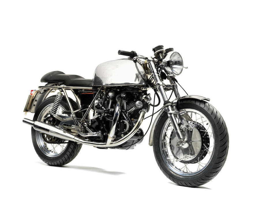 The Egli-Vincent is a custom built motorcycle. (Picture courtesy Bonhams).