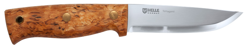 The Helle Temagami is a semi-full tang bushcraft knife highly suited to hunting, fishing and general camp work. (Picture courtesy Helle).
