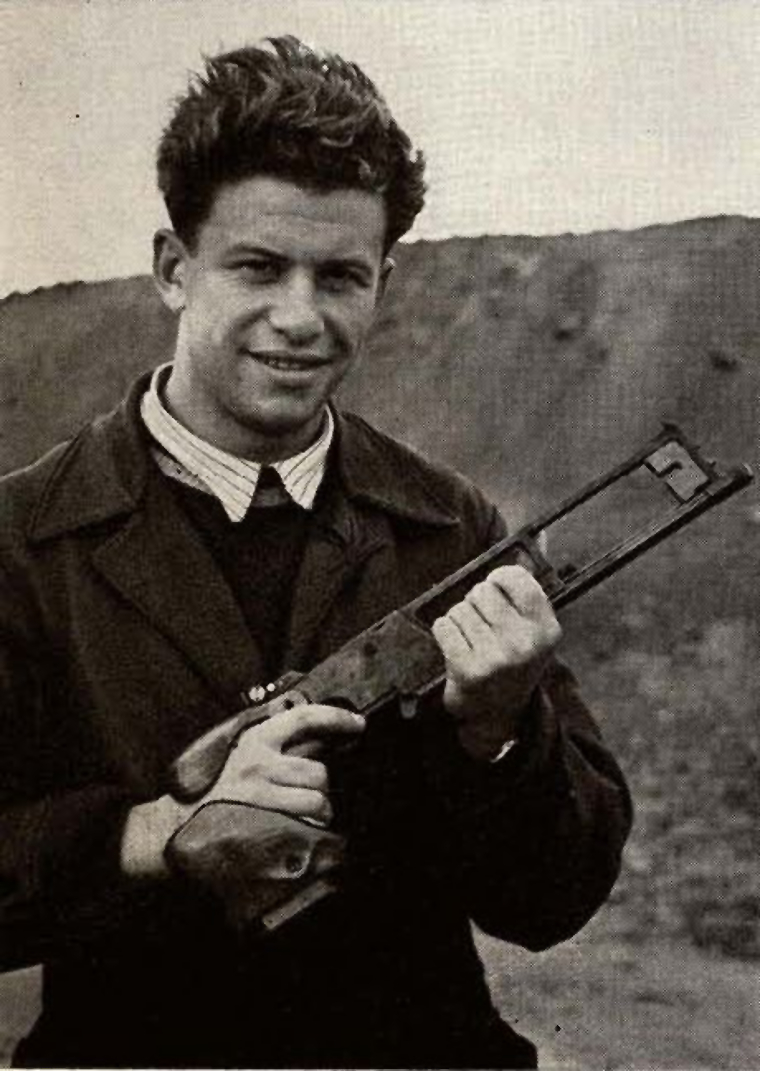 Soviet shooter ... with his ... at the 1956 Melbourne, Australia, Olympic Games. Picture courtesy toyfj40.freeshell.org-and-a-Guns-Magazines-1958-issue).