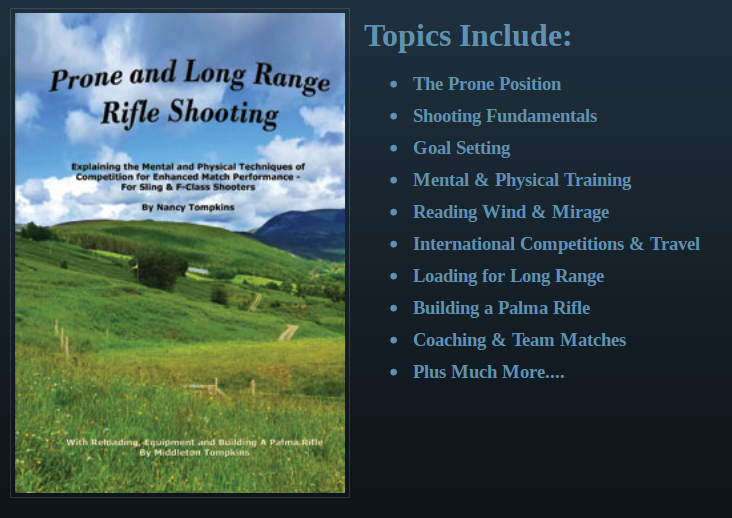 Prone and Long Range Rifle Shooting by Nancy Tompkins