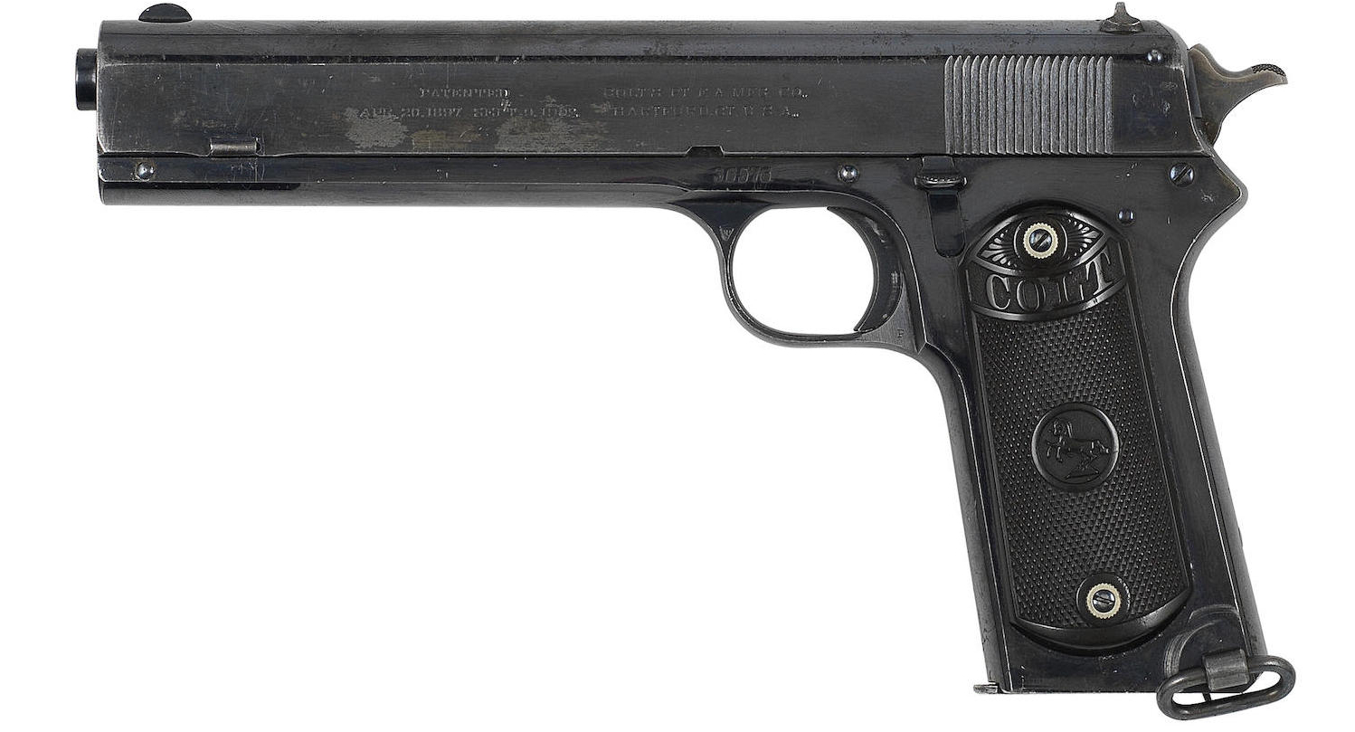 Browning's M1902 was and is a beautifully designed pistol with its own distinct character. (Picture courtesy Bonhams).