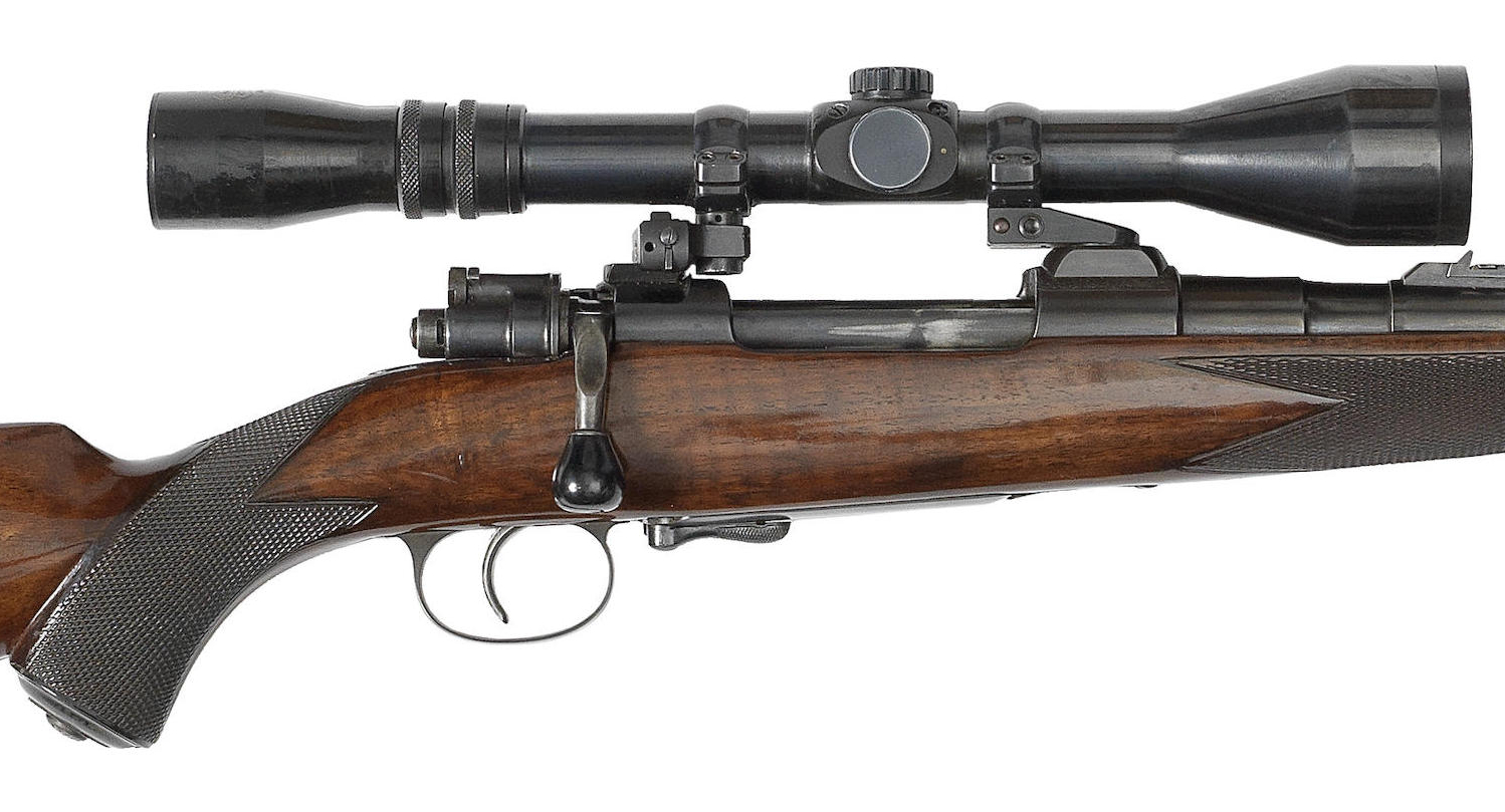 This close up of the action and rifle-scope shows the interesting quick detachable mounts fitted. (Picture courtesy Bonhams).