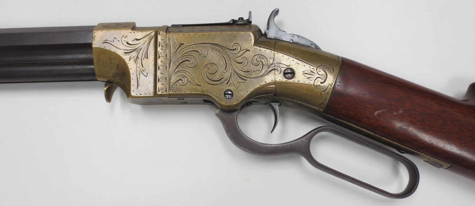 This rifle is marked 'New Haven Conn. Patent Feb 14. 1854' (Picture courtesy Bonhams).