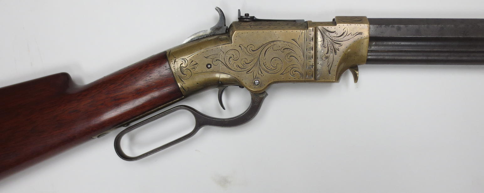 This .41 Volcanic lever action rifle is marked as being No 81 and was likely produced between 1857-1860. (Picture courtesy Bonhams).