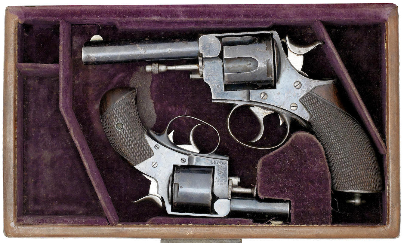 "The Webley R.I.C. revolver was a relatively popular choice amongst army officers in the period of the Sherlock Holmes stories. It is in fact a candidate as Dr. Watson's ""service revolver""."
