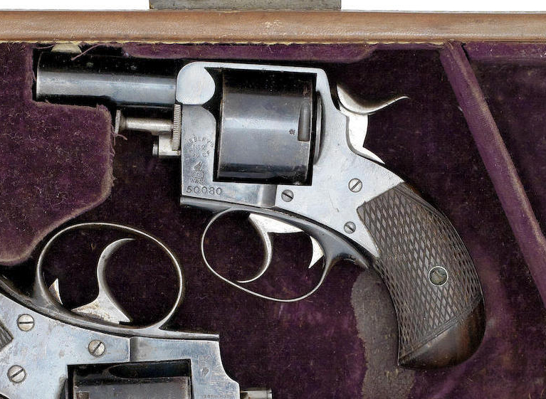 The Webley Bulldog, small, dependable and powerful enough. An ideal revolver for Sherlock Holmes.