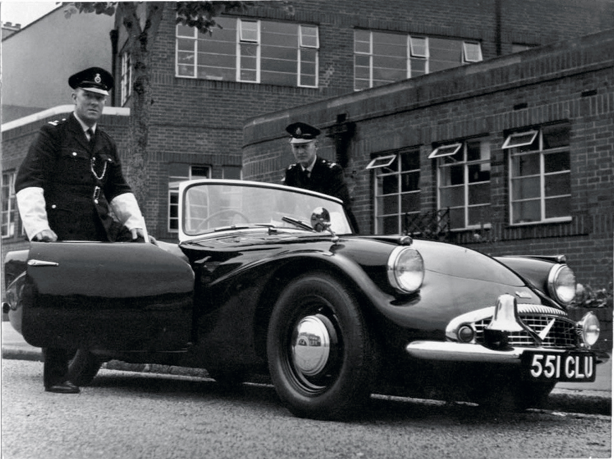 The Daimler SP250 Dart was so good the British Police adopted them as pursuit cars. (Picture courtesy curbsideclassic.com).