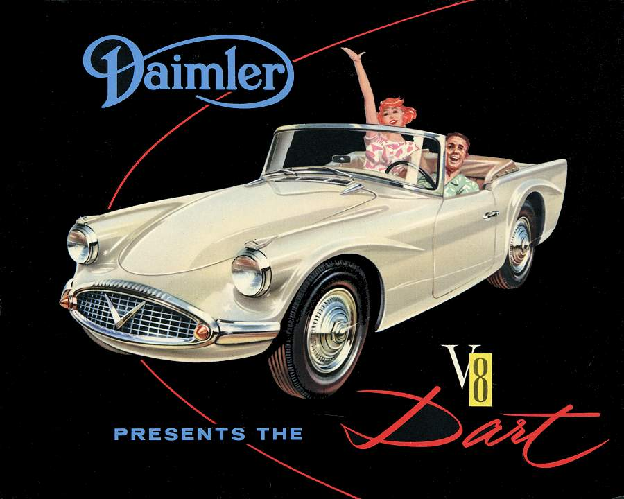 The Daimler SP250 Dart was created with the US market firmly in mind. (Picture courtesy jag-lovers.org).