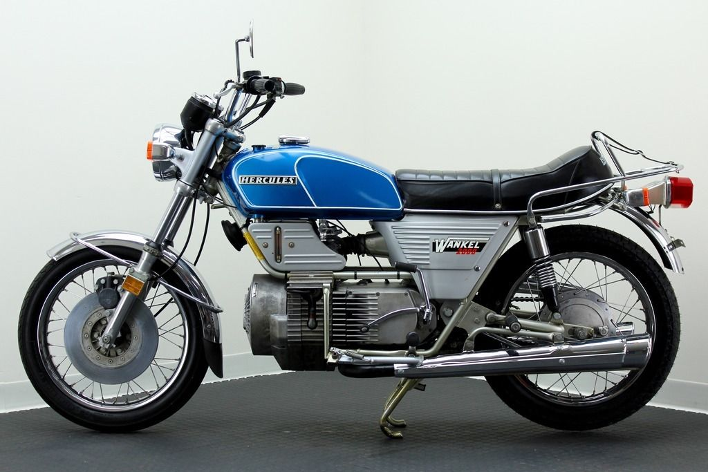 The Hercules W-2000 is a nice looking motorcycle and interesting because of its unusual engine.