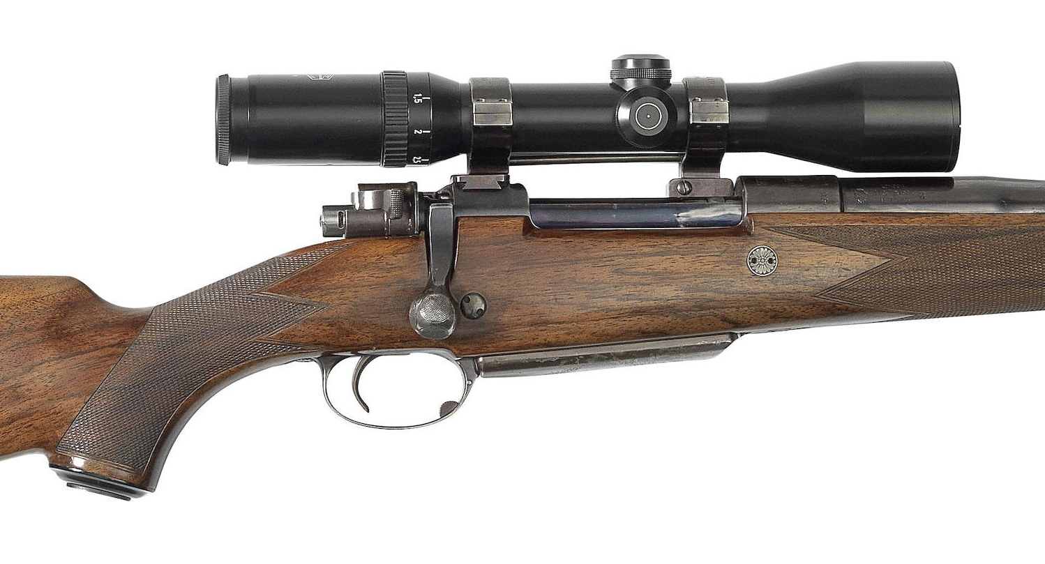 The telescopic sight bases and rings would have been added later in this rifle's life.