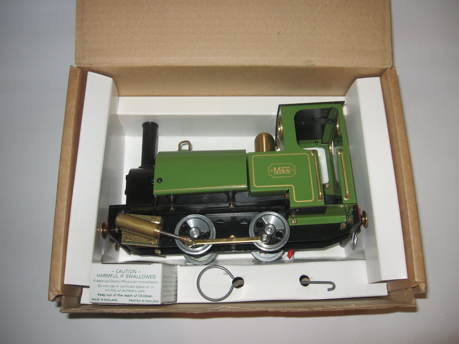 The set looks quite new and well looked after. The locomotive comes in its original box, check with the seller about the wagons also.