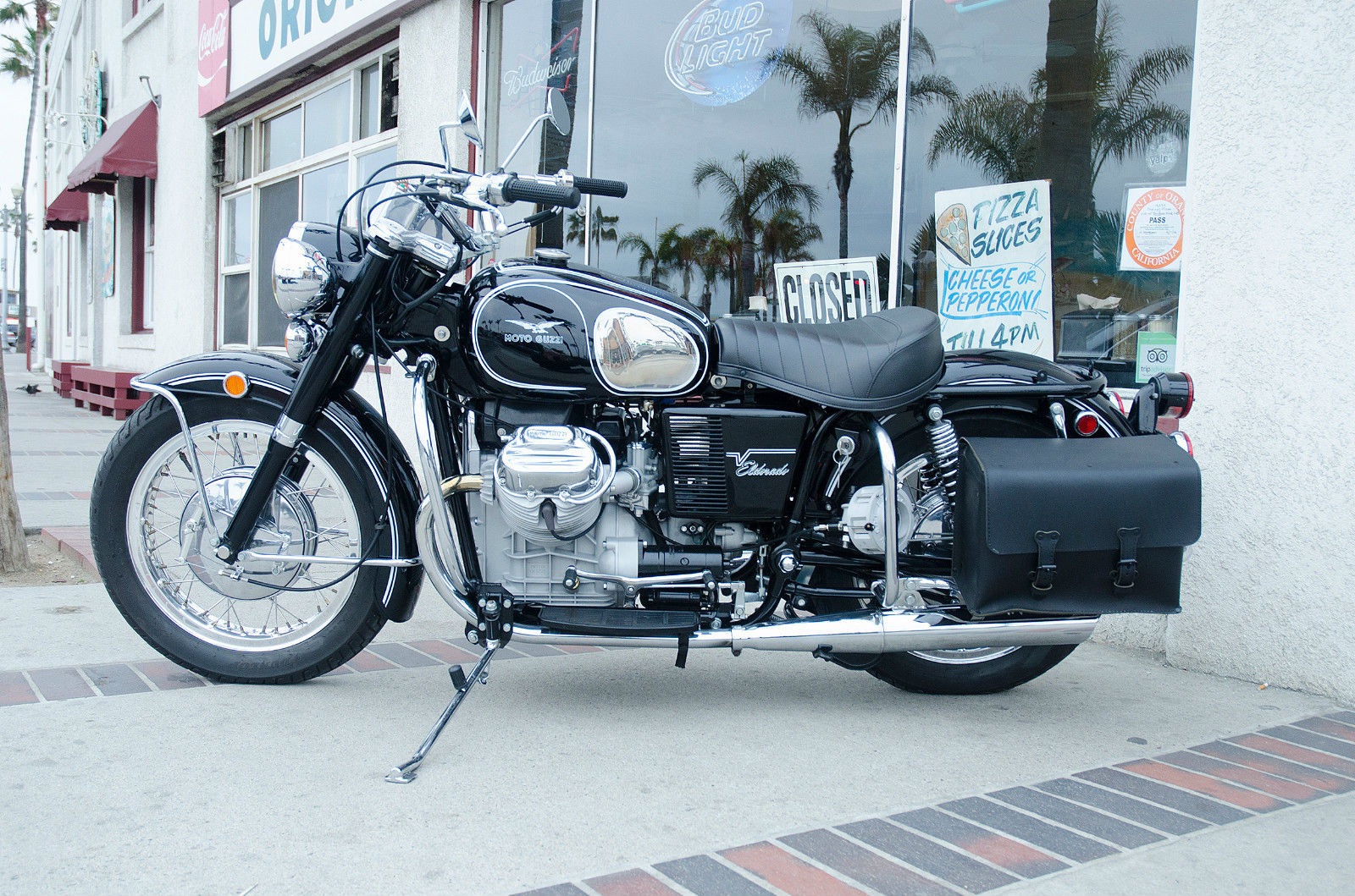 The Moto Guzzi Eldorado was developed from a sixties police motorcycle created by Moto Guzzi for the Italian police.