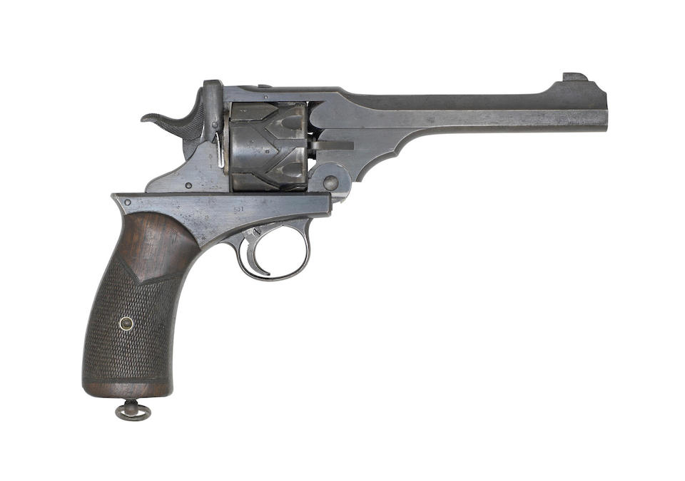 The Webley Fosbery Model 1903 automatic revolver for sale at Bonhams. (Picture courtesy Bonhams).