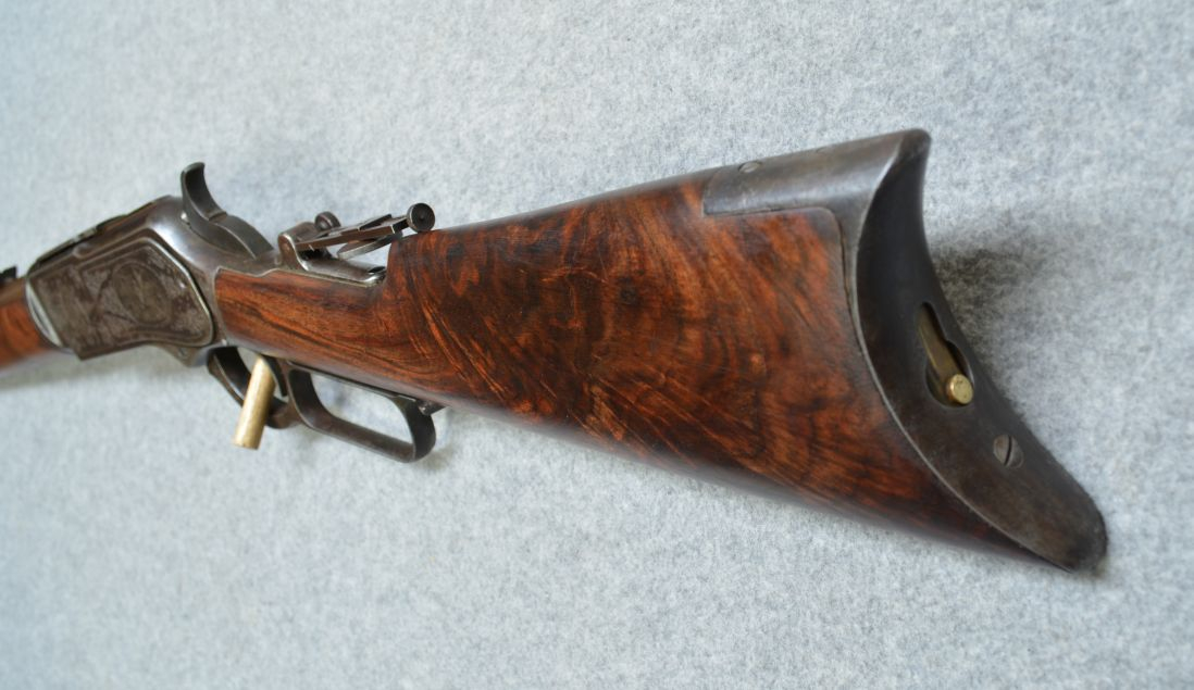 The wood on this rifle is a delight to the eye.