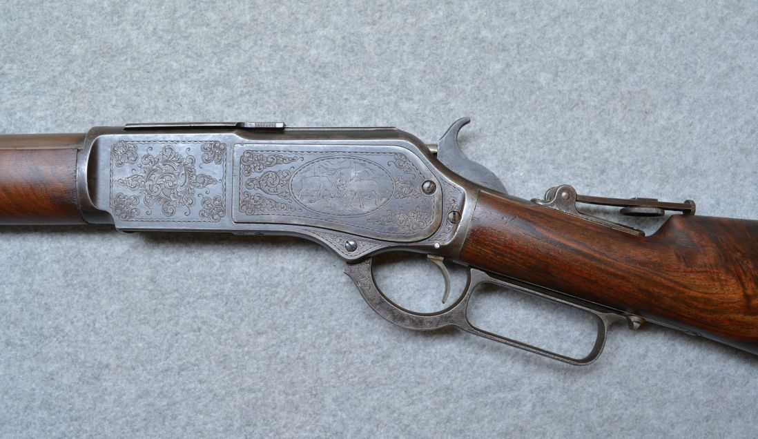 This model features tasteful engraving of hunting scenes.