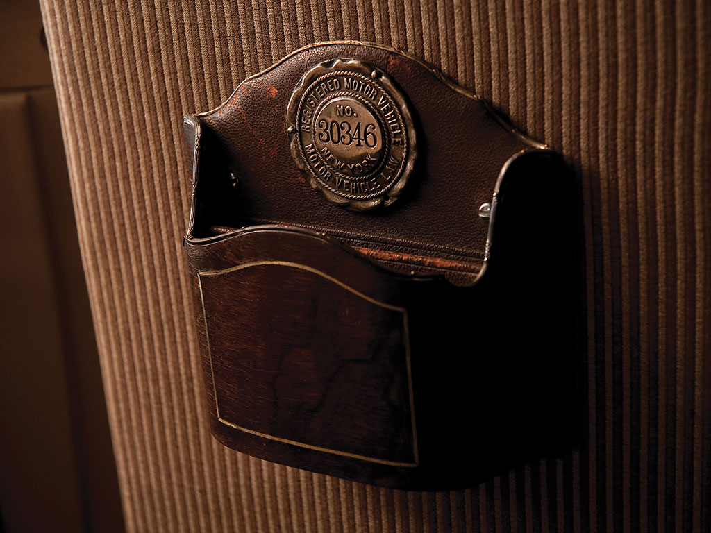 There is even a convenient pocket for keeping one's correspondence. (Picture courtesy RM Sotheby's).