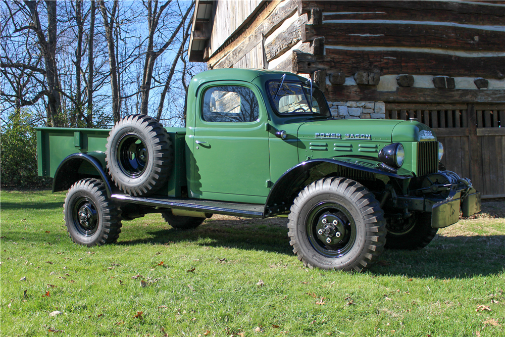 The 1946 Dodge Power Wagon that is also being offered for sale by Barrett-Jackson at their Northeast auction. (Picture courtesy Barrett-Jackson).