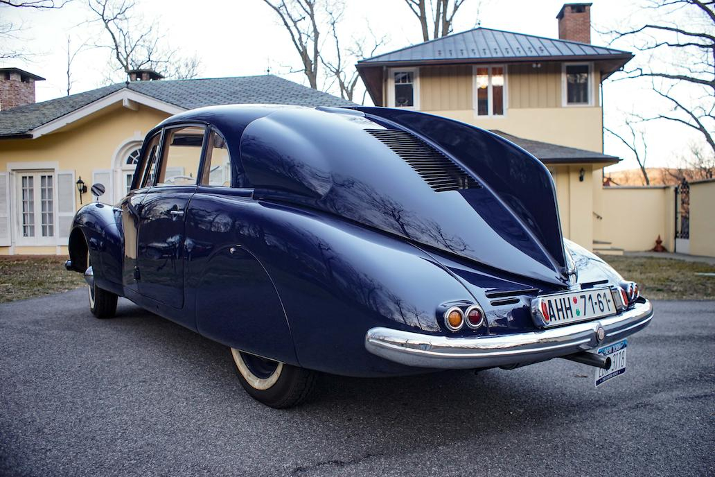 With their big V8 engine and futuristic aerodynamic shape the big Tatra became popular with Nazi German senior officers including Erwin Rommel of the Afrika Korps.