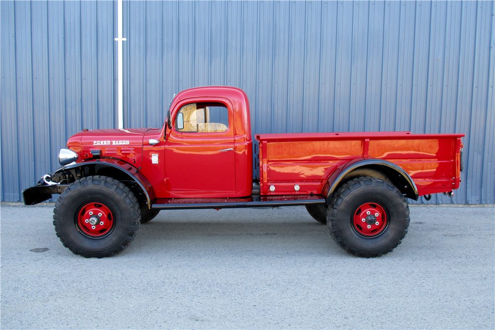 The Dodge Powerwagon looks about as no-nonesense as a truck could. If Popeye the Sailorman drove a vehicle it would be one of these. (Picture courtesy Barrett-Jackson).