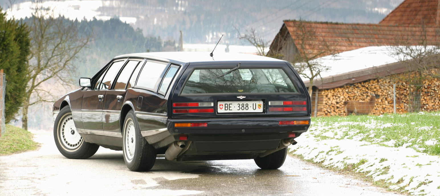 The Roos Engineering conversion of this 1986 Aston Martin Lagonda to a shooting brake is beautifully crafted and completely in style with the rest of the car.