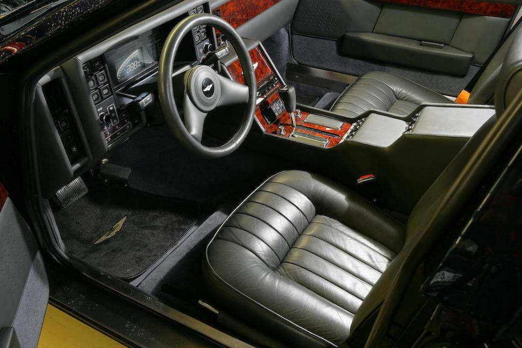 "The interior of the ""Series 3"" Aston Martin Lagonda is not as space age as the original but is ergonomically superior."