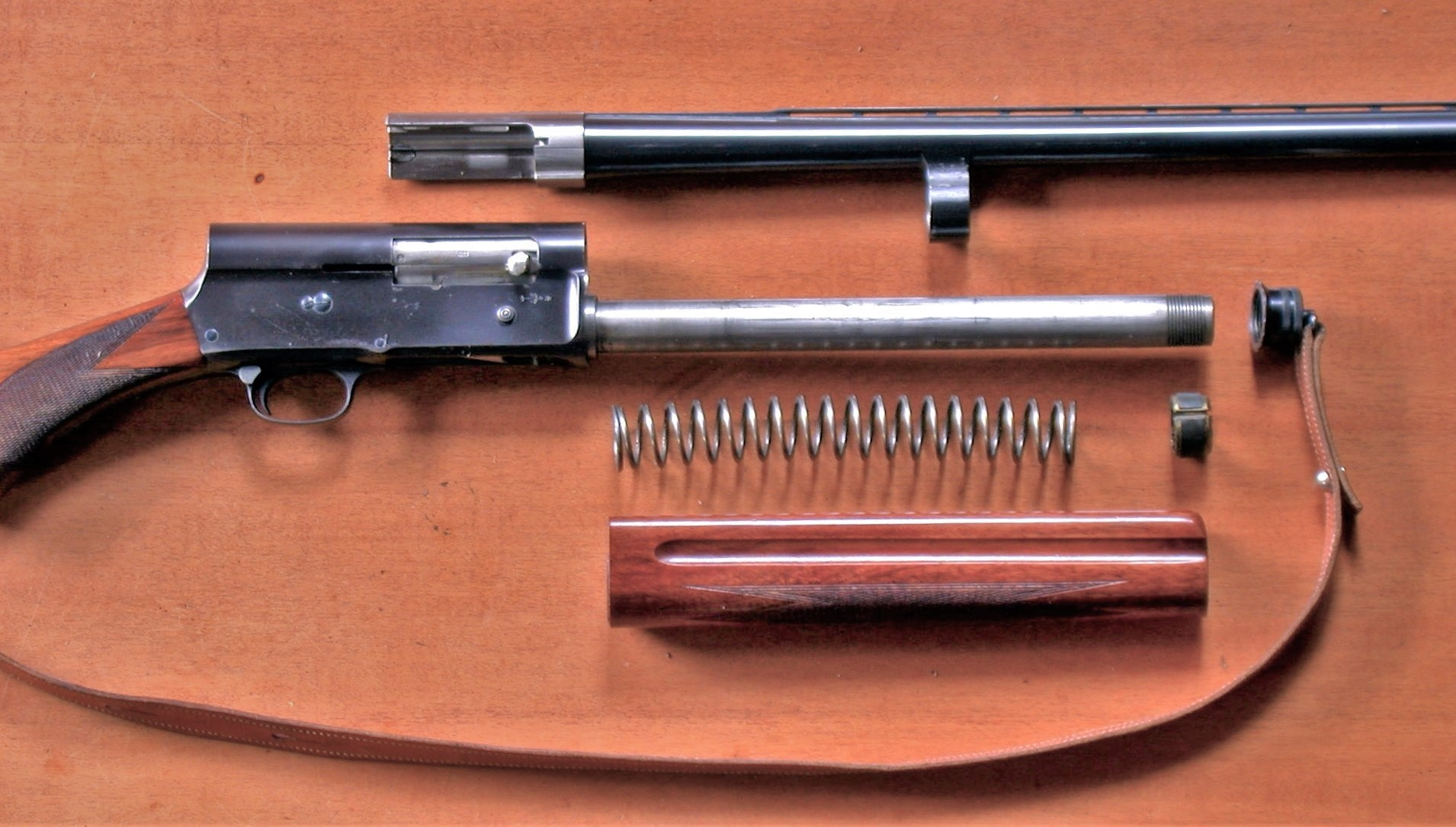Browning Auto 5 field stripped. (Picture courtesy Wikipedia).