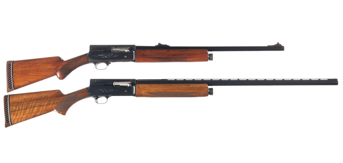 The Browning Auto 5 was made completely flexible by its combination of interchangeable barrels and adjustable friction ring for light to heavy loads. (Picture courtesy Wikipedia).