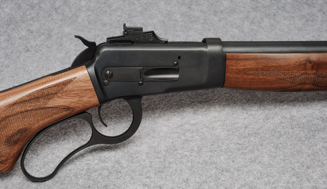 Although it looks like a Winchester lever gun this is a Big Horn Armory lever gun in .500 S&W. (Picture courtesy Cabela's).