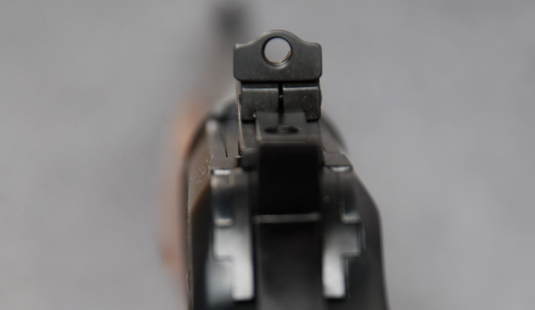 The aperture sight on the Model 89 has a large hunting aperture ideal for fast target acquisition. (Picture courtesy Cabela's).