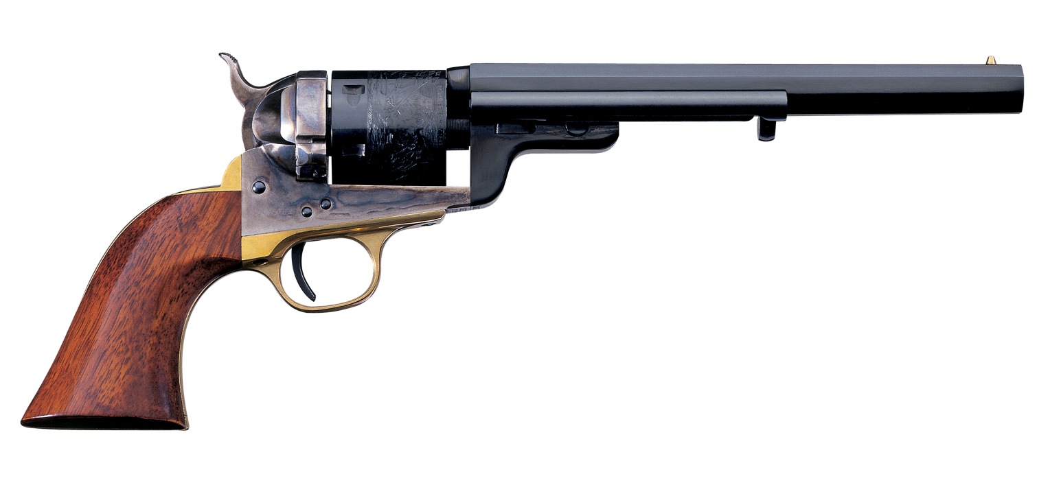 Uberti now make four models of the Colt 1871/72 transitional revolver. This is the 1851 Navy model. (Picture courtesy Uberti).