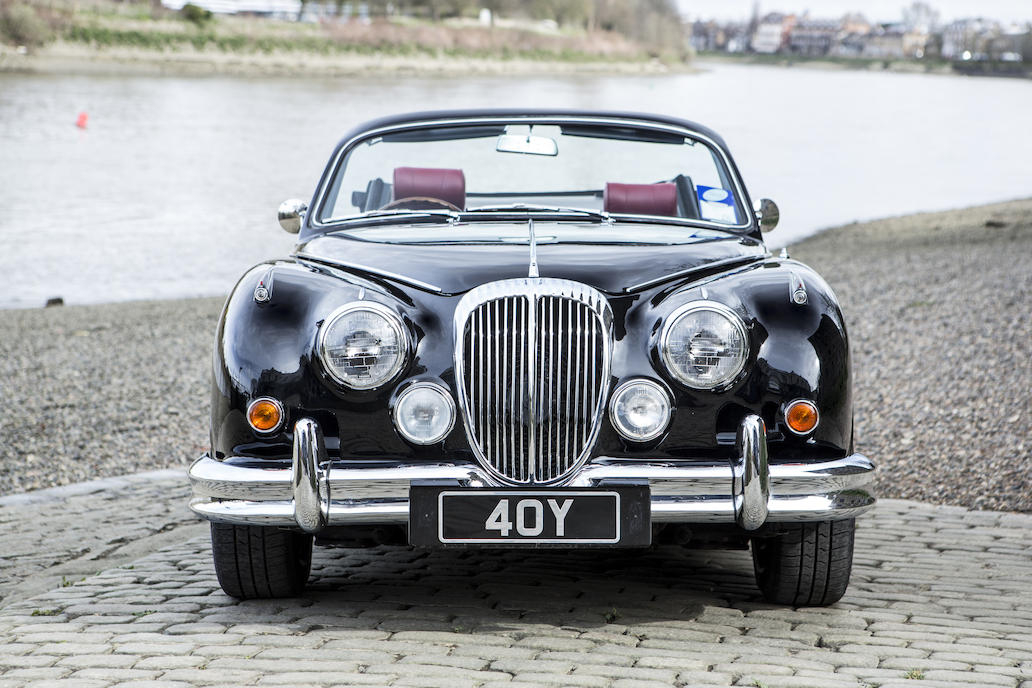 This Vicarage re-modeled 1964 Daimler 2.5 V8 is now a two door convertible with twenty first century upgrades.