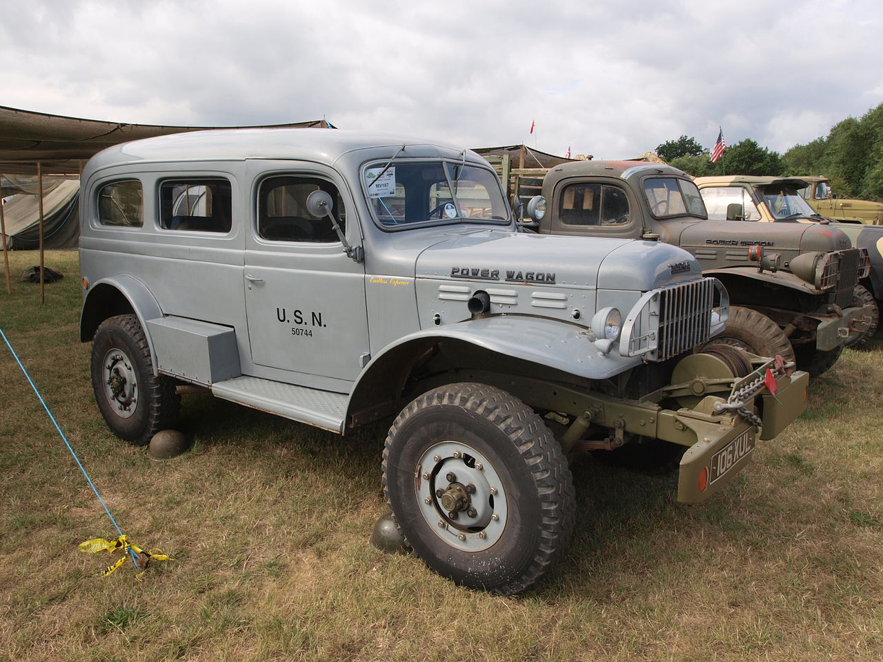 1958 Dodge Powerwagon with fully enclosed carryall body. (Picture courtesy Wikipedia).