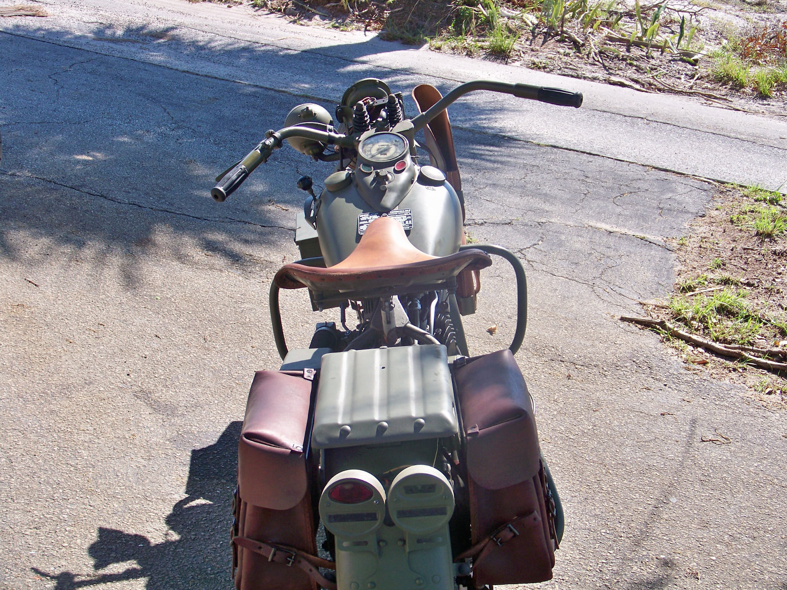 These wartime Harley's were good to ride and popular with personnel who used them.