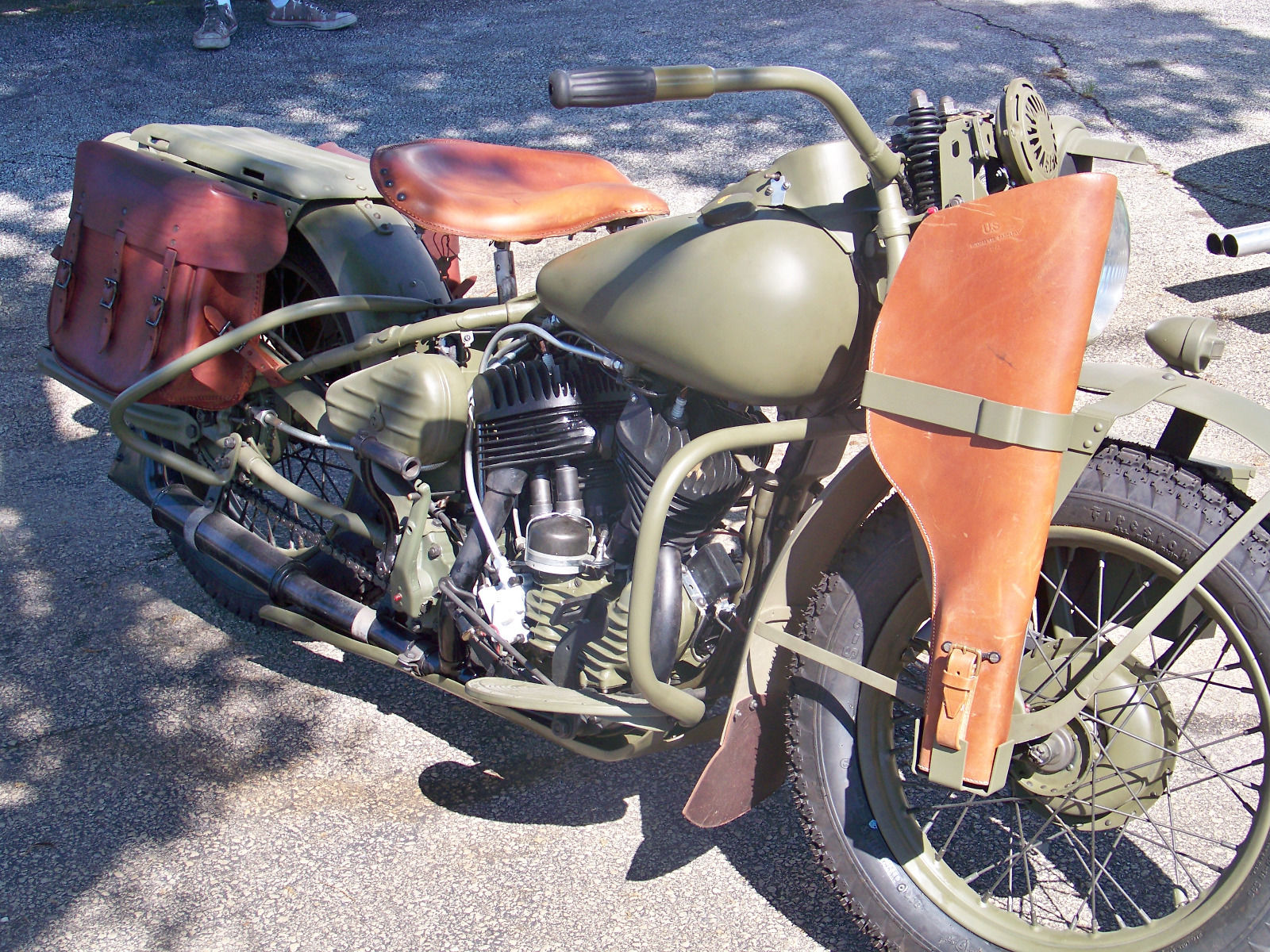 This restored Harley Davidson WLA is complete with correct equipment.