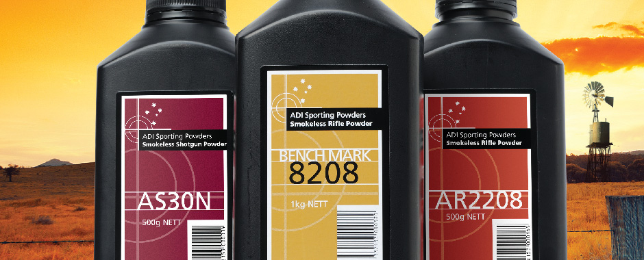Some of the Australian ADI powders are sold in the United States under the Hodgdon brand. (Picture courtesy ADI).