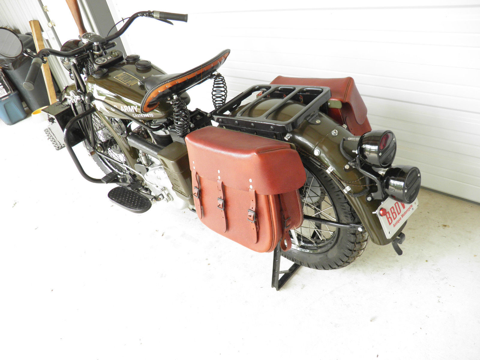 The sale bike appears to have all the original equipment including black out lights. (Picture courtesy eBay).