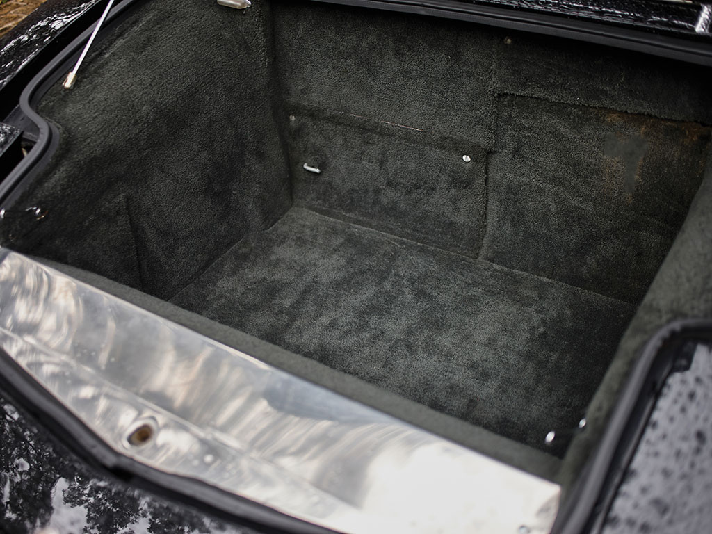 The luggage compartment in the front of the Bora is a practical size.