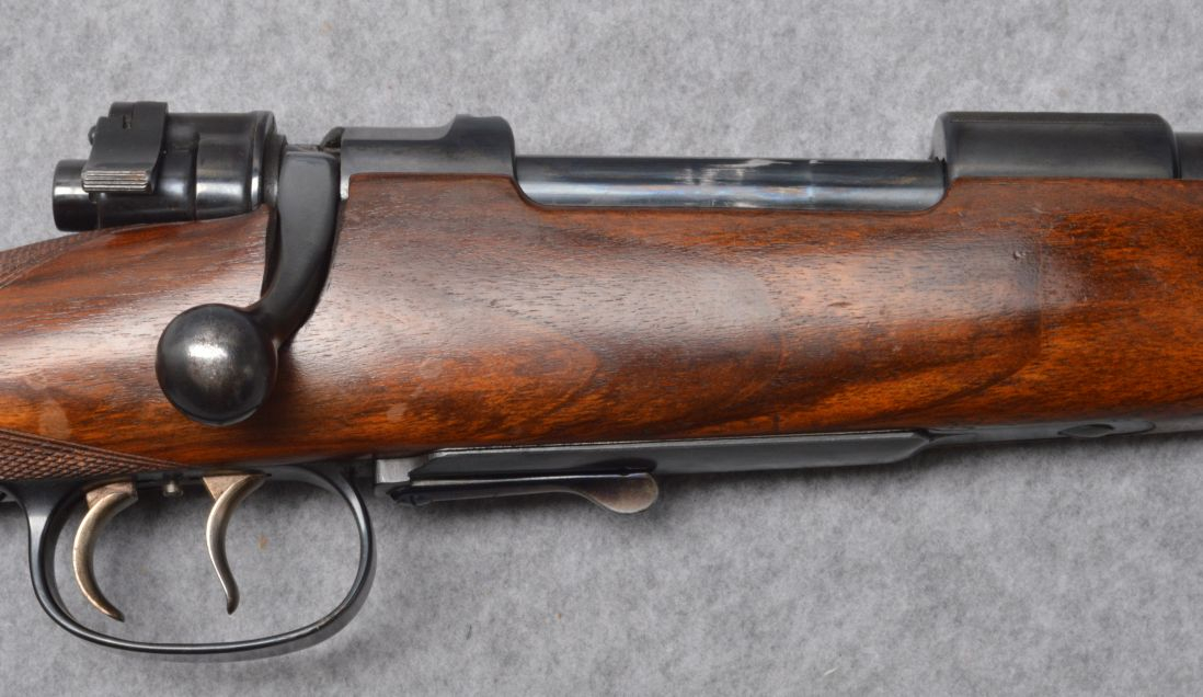 The Mauser action is a nice quality pre-war commercial one with standard European double set triggers and a lever actuated opening floor plate. (Picture courtesy Cabela's).