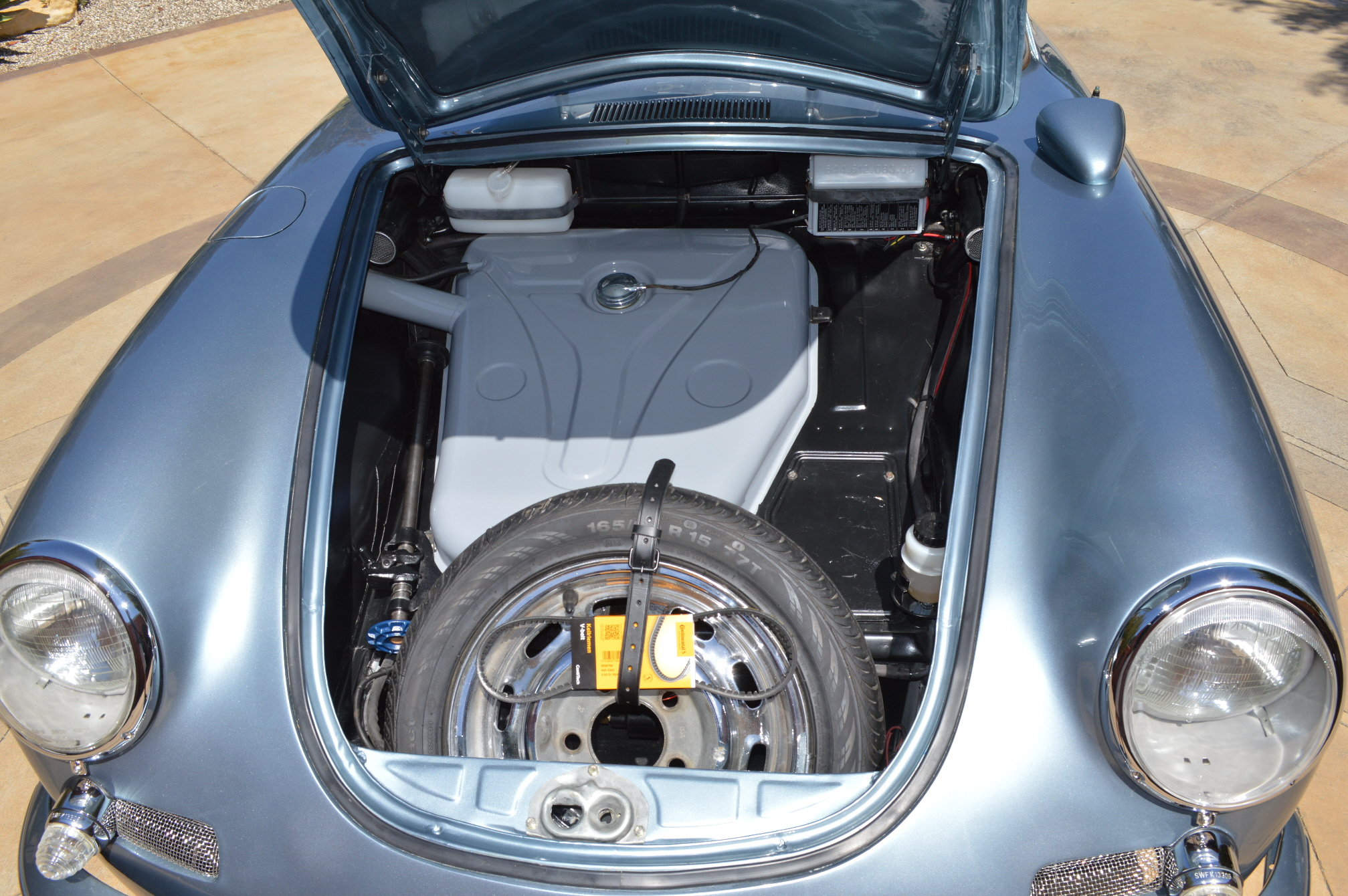 In the re-build any rust was professionally repaired including the floor pans.