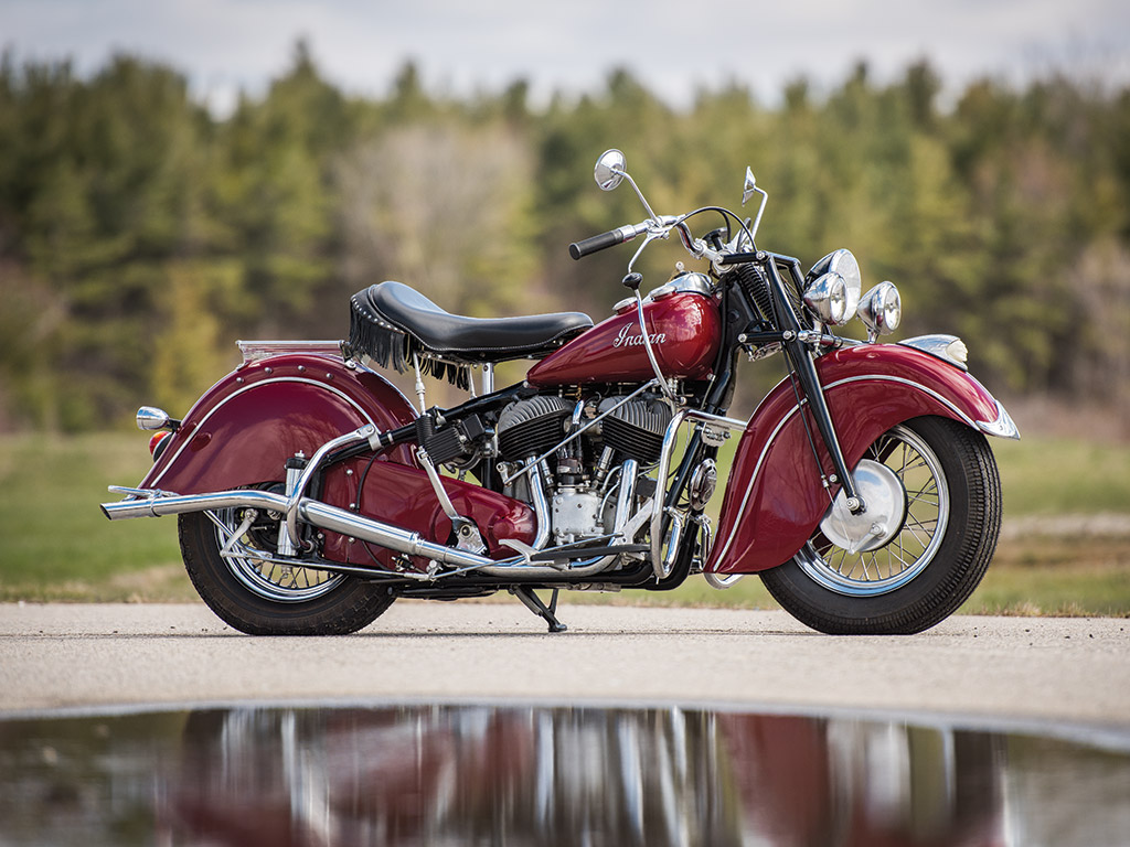 The Indian Chief and especially the Roadmaster Model, had a characteristically Indian look that set them apart as the Cadillac of motorcycles.