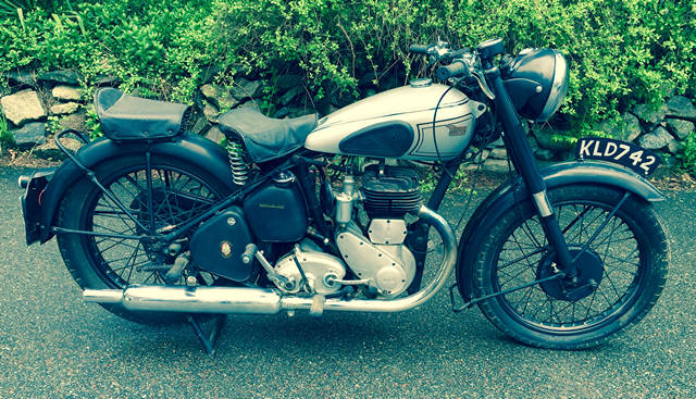 1948 BSA M21 600 CC Single. Same owner, stored inside since 1995