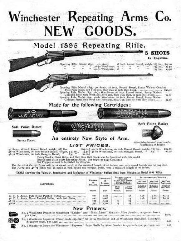 Advertisement for the Winchester Model 1895.