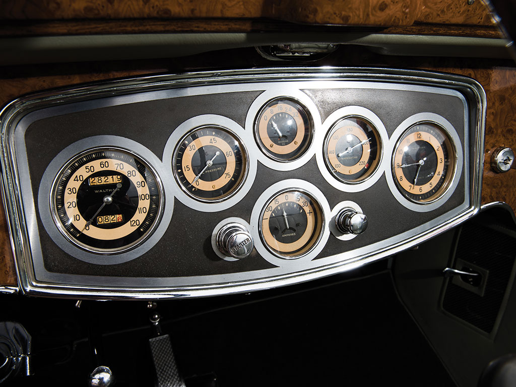 The ergonomically arranged engineer's dashboard says to the owner that Packard recognize him/her as someone who is to be respected as one who understands and appreciates their engineering masterpiece.