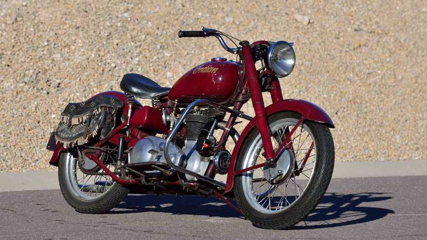 A deep red bike for a man of deep character. This 1949 Indian Arrow was a part of the Steve Mc Queen collection of 118 motorcycles. (Picture courtesy Mecum Auctions).