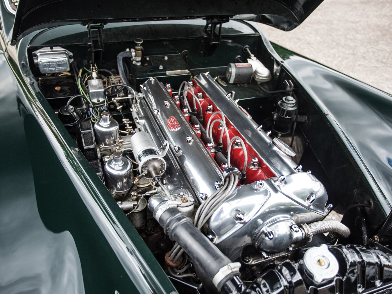The DOHC Jaguar XK engine was intentionally designed to look fantastic as well as perform fantastically.