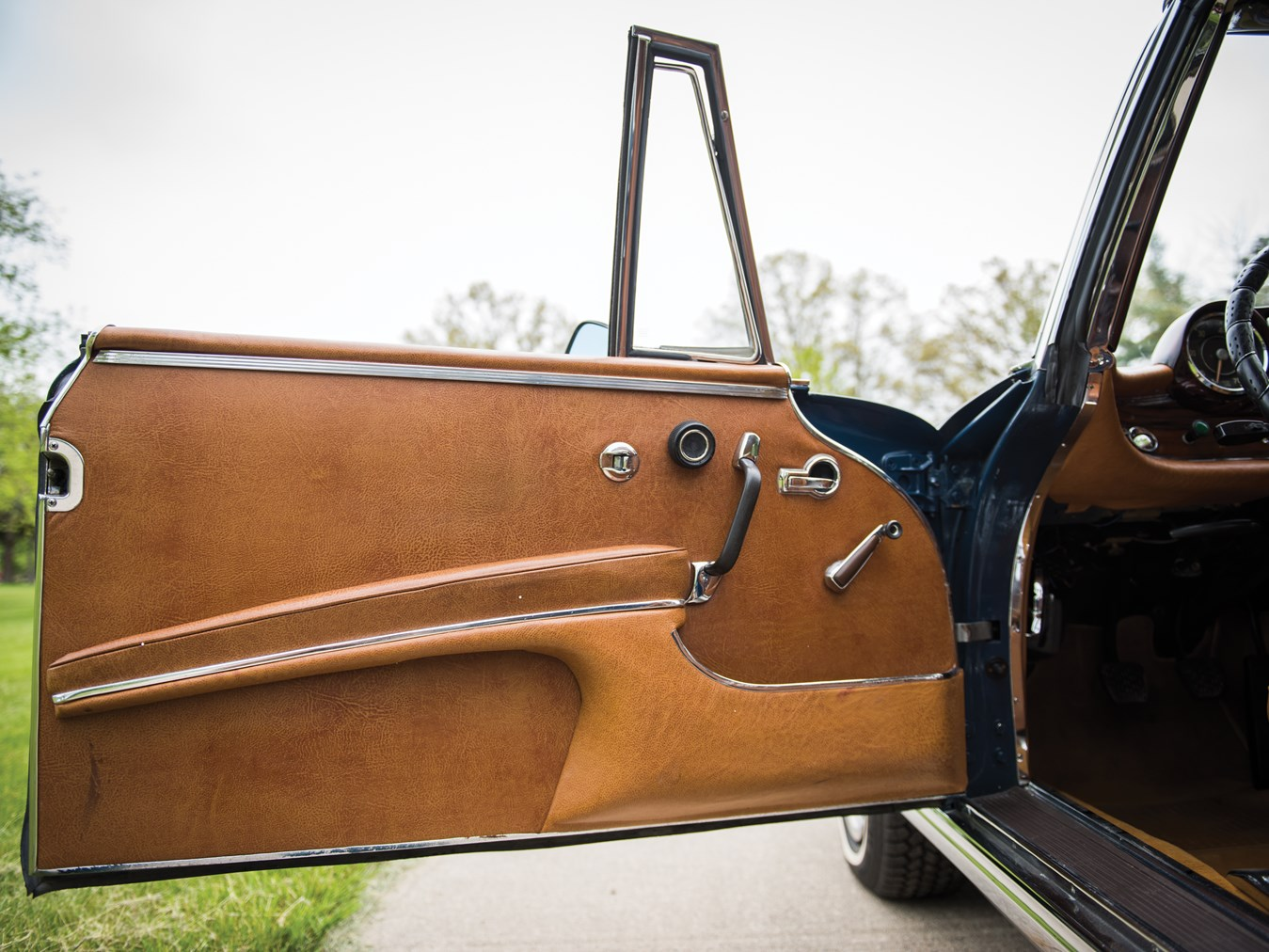 The leather in the door trims is both beautiful and functional.