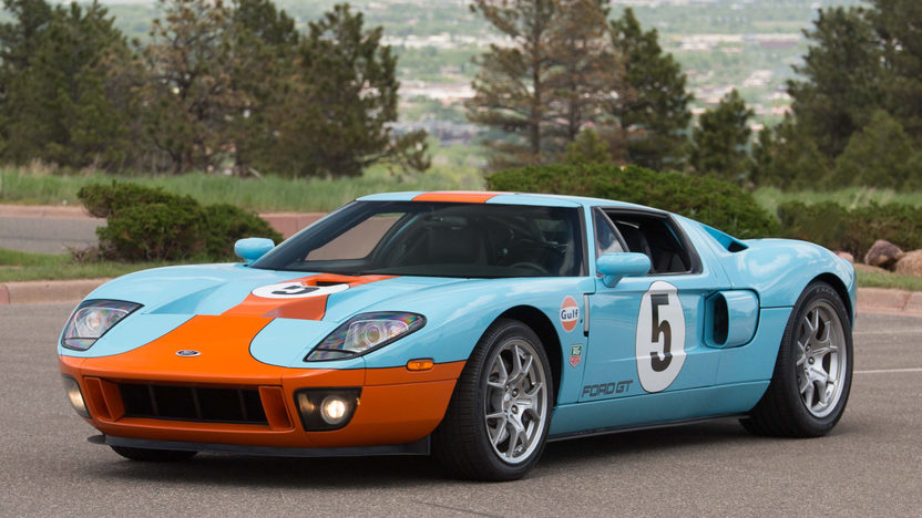 The 2006 Ford GT Heritage Edition was created to celebrate the fortieth anniversary of Ford's first victory at Le Mans.