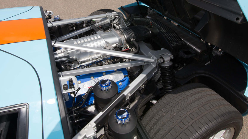 The engine of the 2006 Ford GT Heritage Edition is a supercharged 5.4 liter V8.