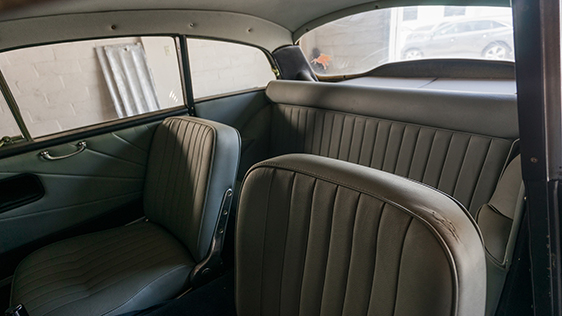 The interior looks to be iun fair shape, but the whole car will need restoration work.