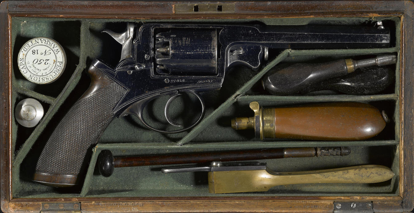 This Beaumont Adams revolver was owned by Confederate General Confederate General Willliam Thompson Martin. (Picture courtesy Bonhams).